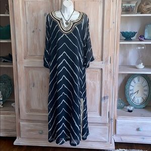 Soft Surroundings Maxi Beaded Dress NEW PM Medium